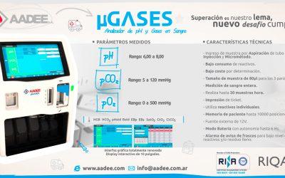 Nuevo analizador de pH y gases en sangre, el AADEE µGASES