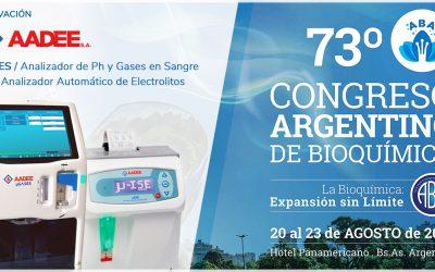 Participación de AADEE en el 73º Congreso Argentino de Bioquímica del 20 al 23 de Agosto 2019