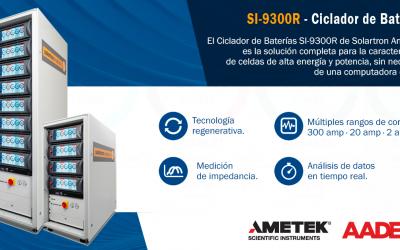 Nuevo Ciclador de Baterías SI-9300R de Solartron Analytical